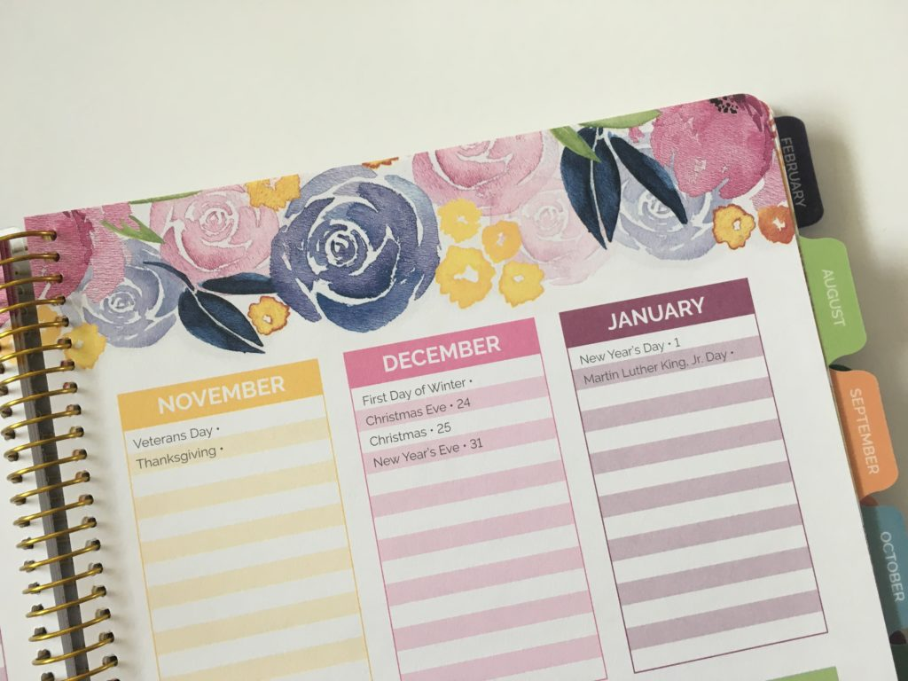 bloom teacher planner monthly calendar undated organization teaching resource tool australia usa rainbow floral review pros and cons affordable important dates floral style preppy