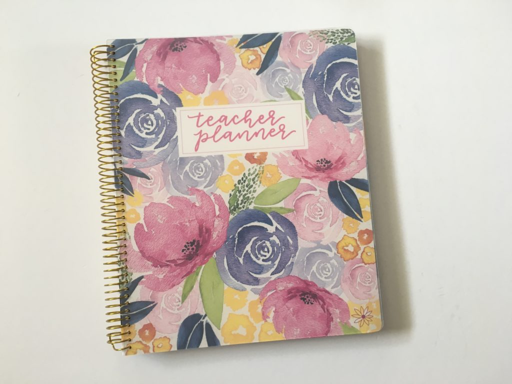 bloom teacher planner review 2018 floral lesson planner cute organization colorful weekly monthly class planning