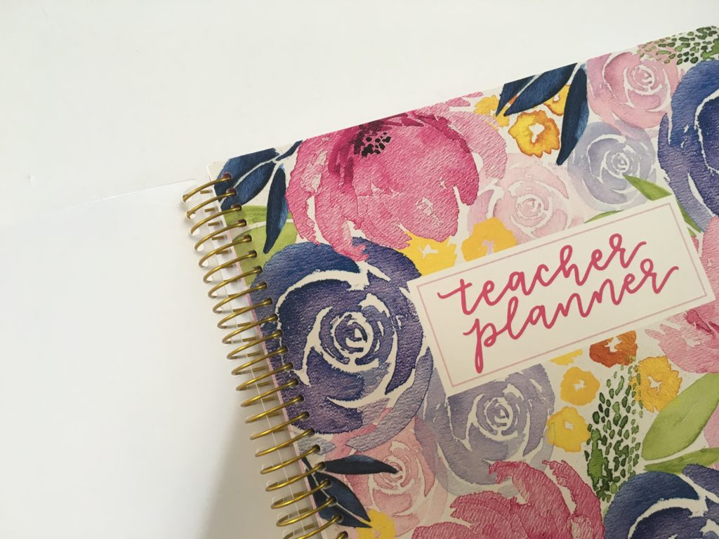 bloom teacher planner review 2018 floral lesson planner cute organization colorful weekly monthly class planning gold foil-min