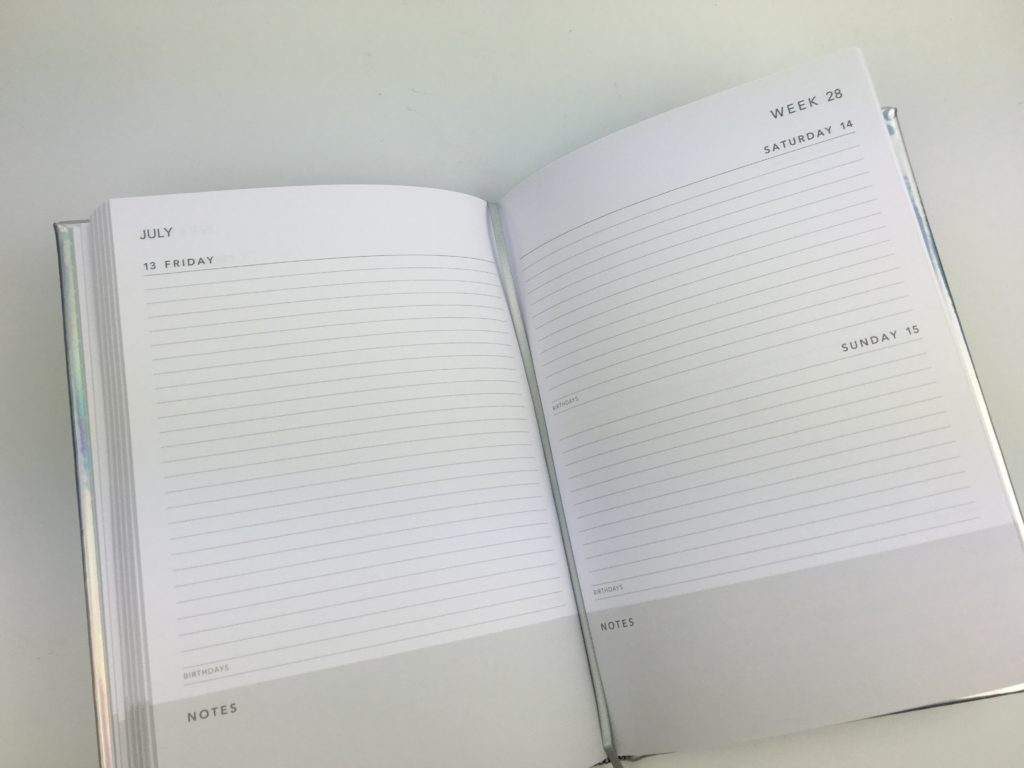 cheap planners in australia kmart haul 2018 sparkly foil horizontal weekly daily monthly calendar review pros and cons day to a page