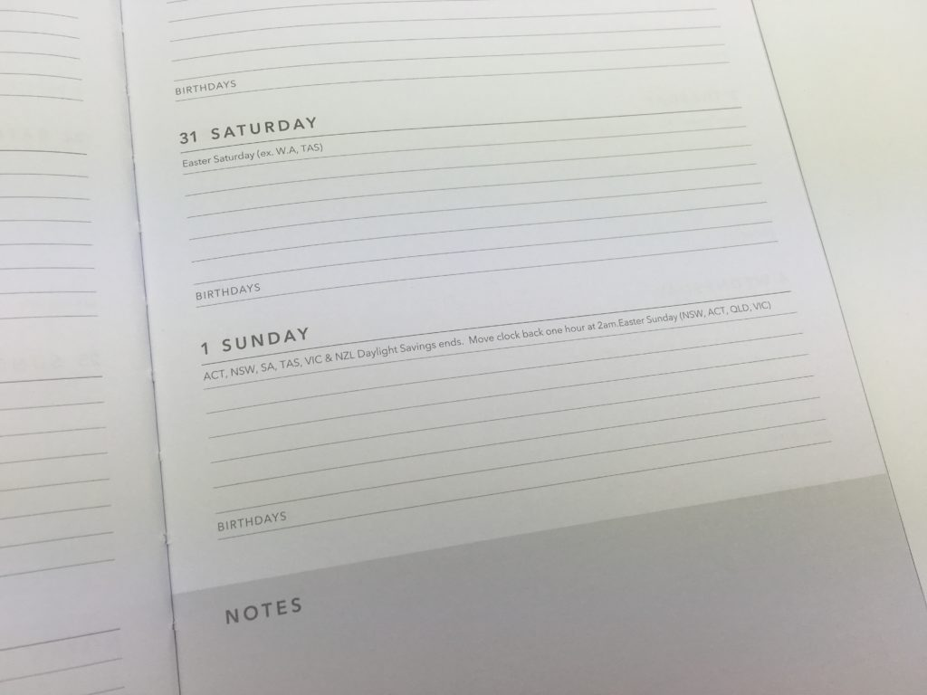 cheap planners in australia kmart haul 2018 sparkly foil horizontal weekly daily monthly calendar review pros and cons public holidays national