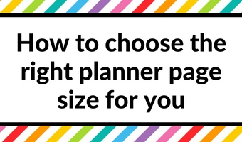 Finding planner peace: how to choose the right planner page size for you
