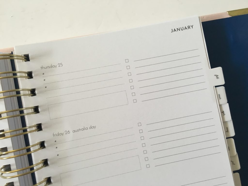 horizontal weekly planner made in australia simple minimalist functional week starts monday checklist meal planning budgeting life planner-min