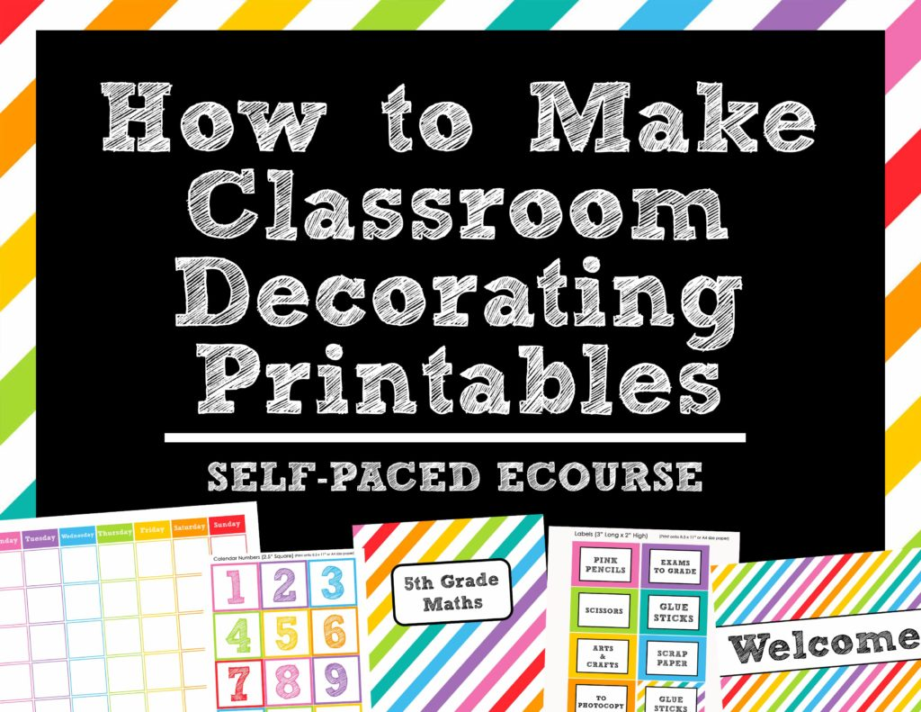 how to make classroom printables tutorial guide ecourse teaching resource calendar diy template decorating word wall organizing labels-min
