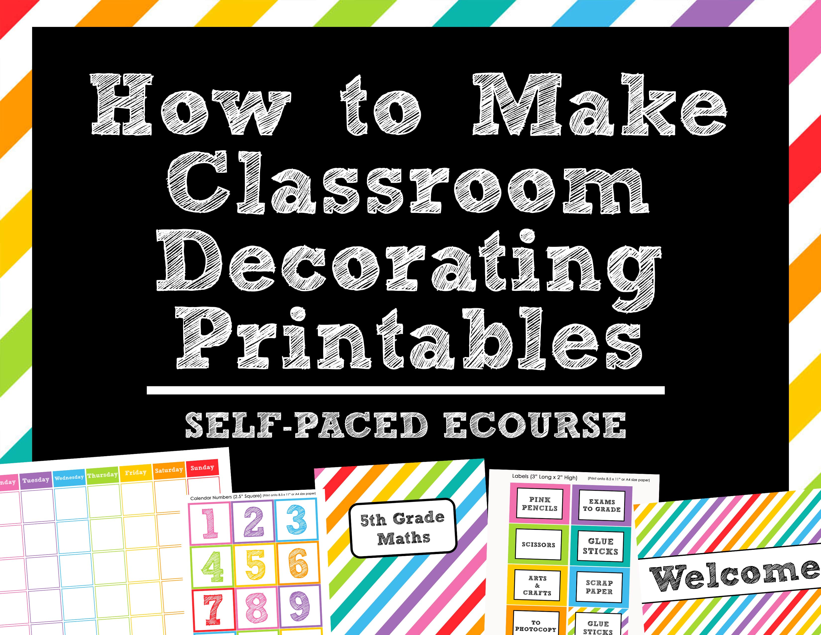 How to make teaching printables and classroom decorating kits to ...