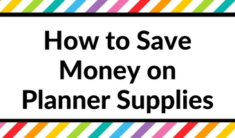 how to save money on planner supplies shopping buying tips stationery australian shipping planner problem addict