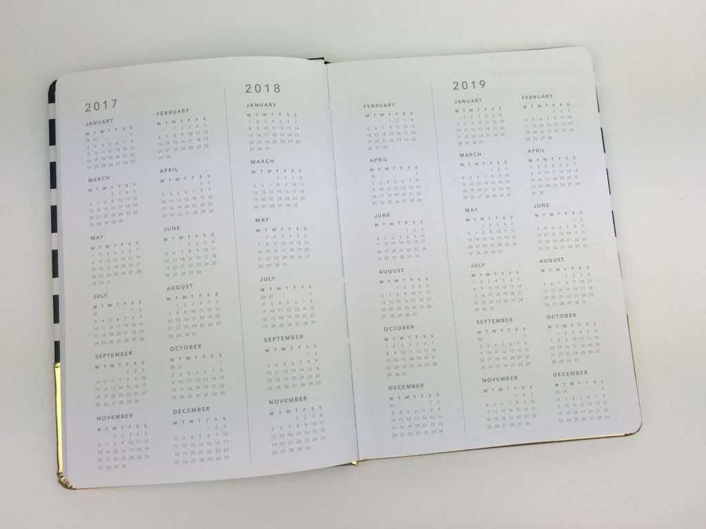 kmart weekly planner haul review supplies gold foil horizontal monday week start cheap annual planner