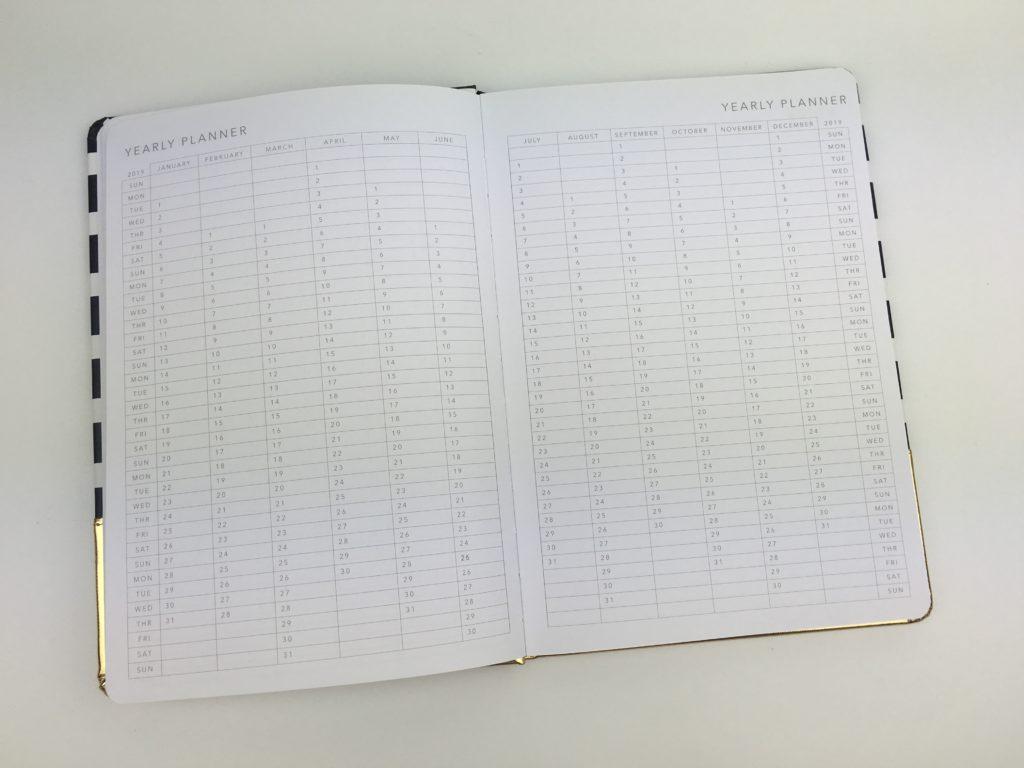 kmart weekly planner haul review supplies gold foil horizontal monday week start cheap yearly calendar ideas tips