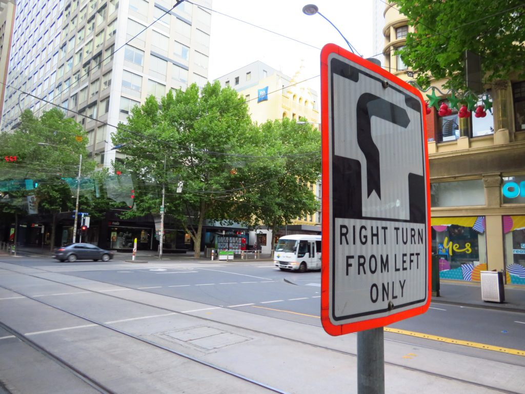 melbourne hook turns right hand turn from left hand lane road rules things to know before you go visit australia quirks weird aussie-min