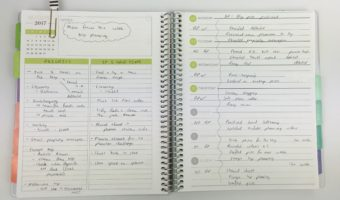 How (and why) I pre-plan the week using the Plum Paper horizontal lined with notes layout