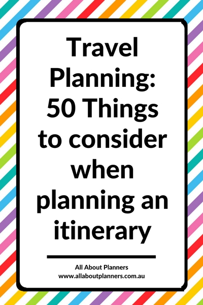 travel planning trip vacation printable planner tool template itinerary organization organizer tips ideas lessons top 10