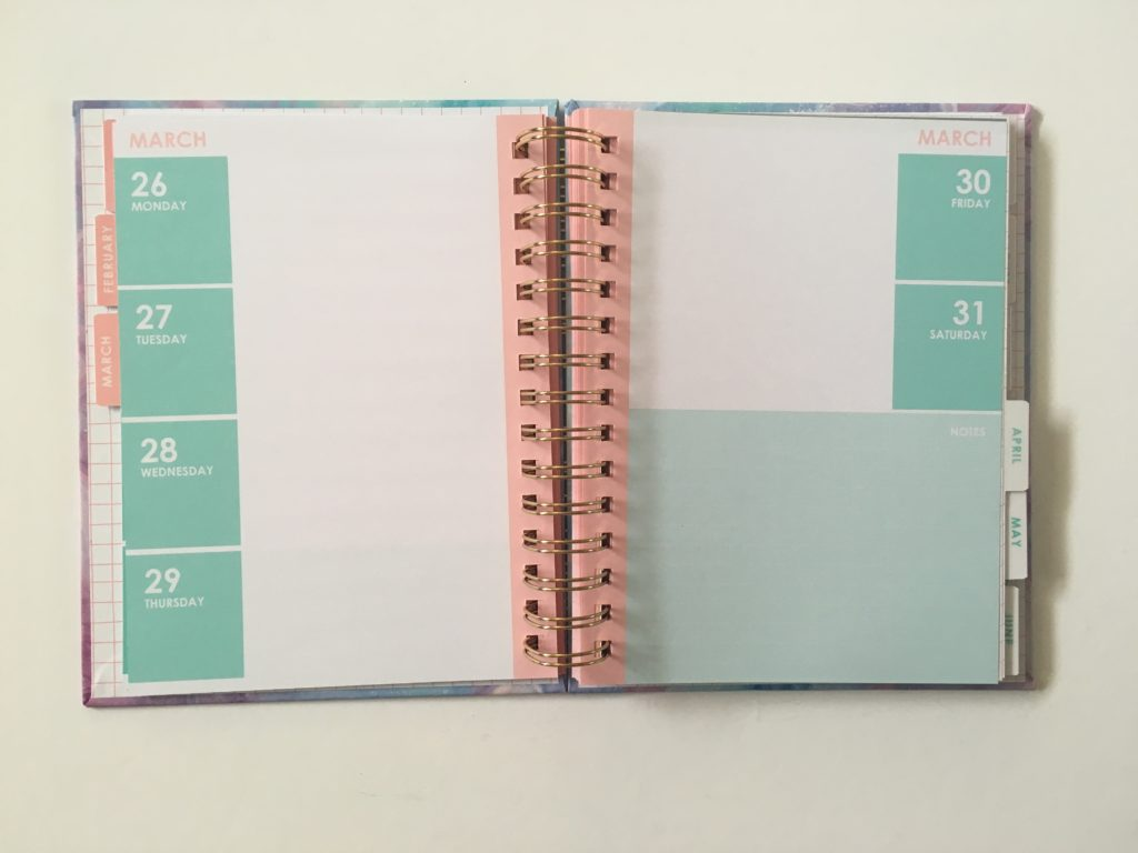 typo diary weekly planner review horizontal 2 days per week 2018 organizer colorful marble australia aussie planner addict haul favorite shops supplies
