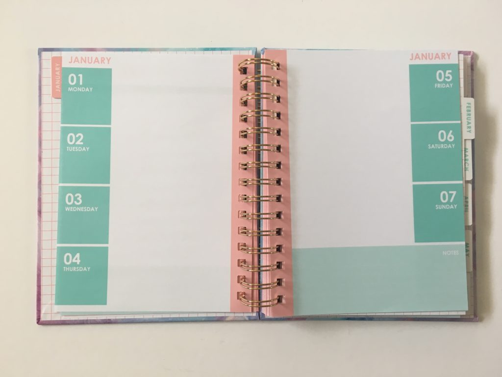 typo weekly planner review 2018 agendia diary horizontal 2 page weekly spread starting monday australian made planner affordable cheap colorful