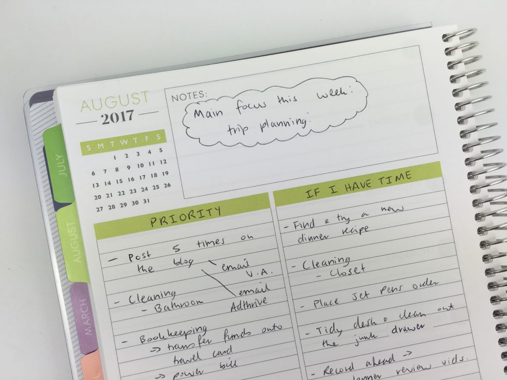 why i pre plan the week using the plum paper planner ideas inspiration tips ideas hacks goal setting planning addict weekly spreads simple