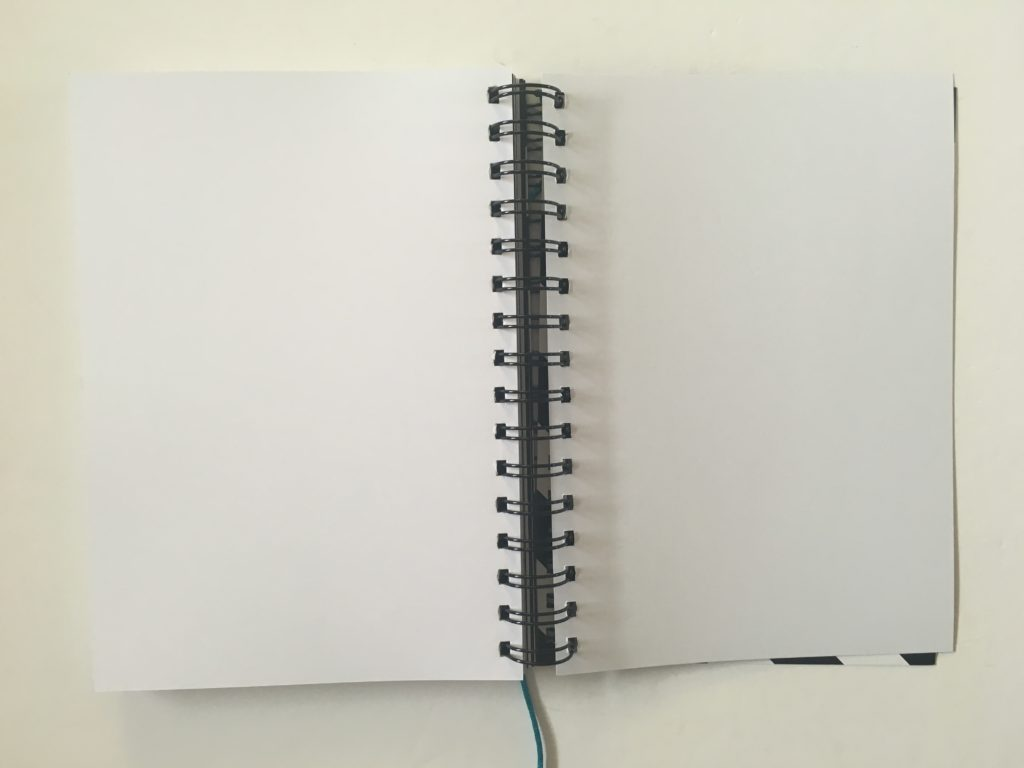 2 page horizontal weekly planner lined sidebar spread alternative to bullet journal monday start australian made simple minimalist neutral blank sketch ideas page