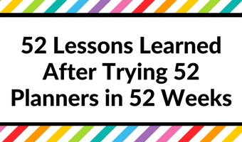 52 lessons learned after trying 52 planners in 52 weeks challenge inspiration bullet journal layouts color coding obsessed