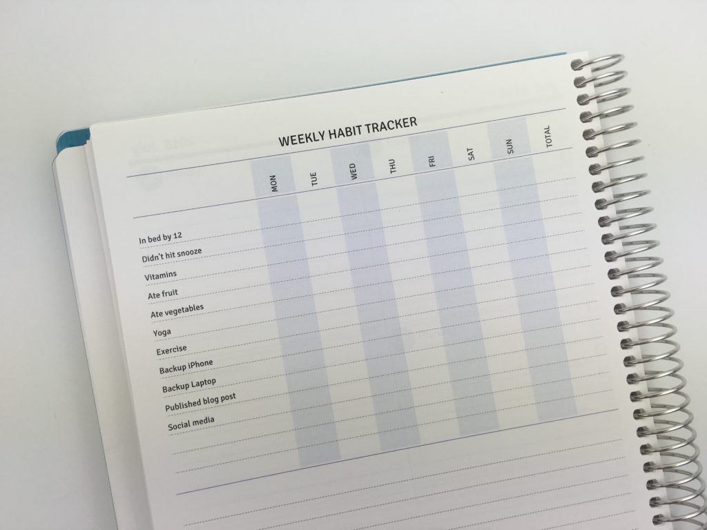 agendio planner review weekly habit tracker monthly planning you choose day of the week pros and cons video review usa company simple colorful you choose categories sizing