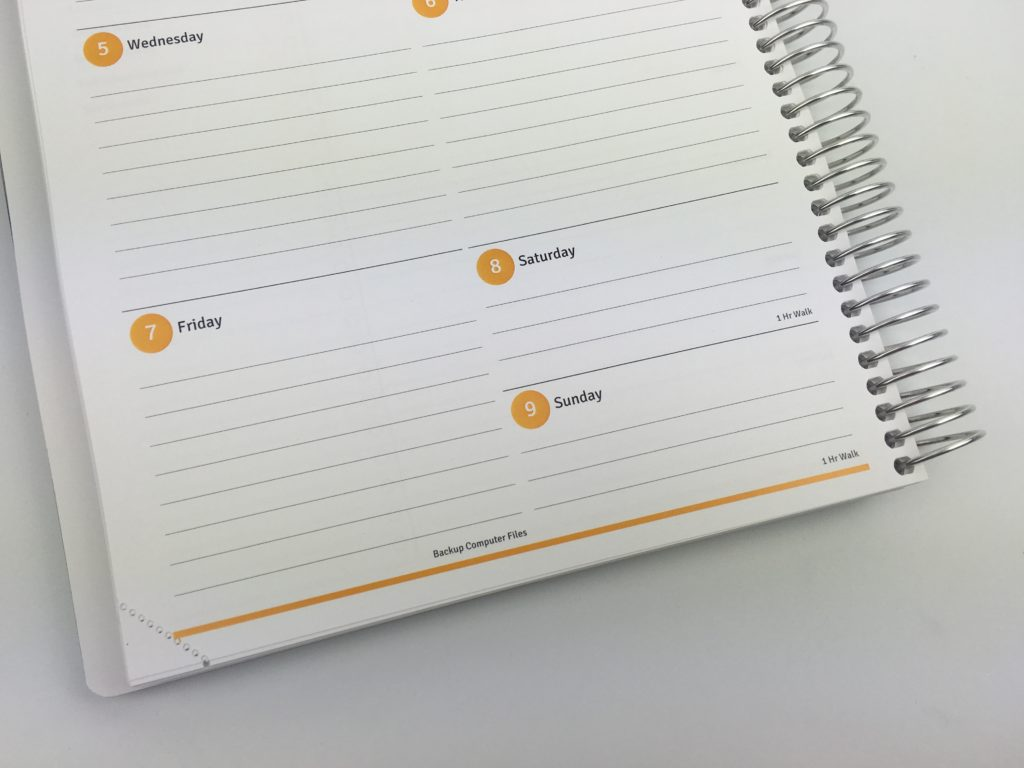 agendio planner review weekly personalised recurring tasks pre-printed colorful monday sunday week start organization you choose layout weekly monthly cheaper alternative to erin condren