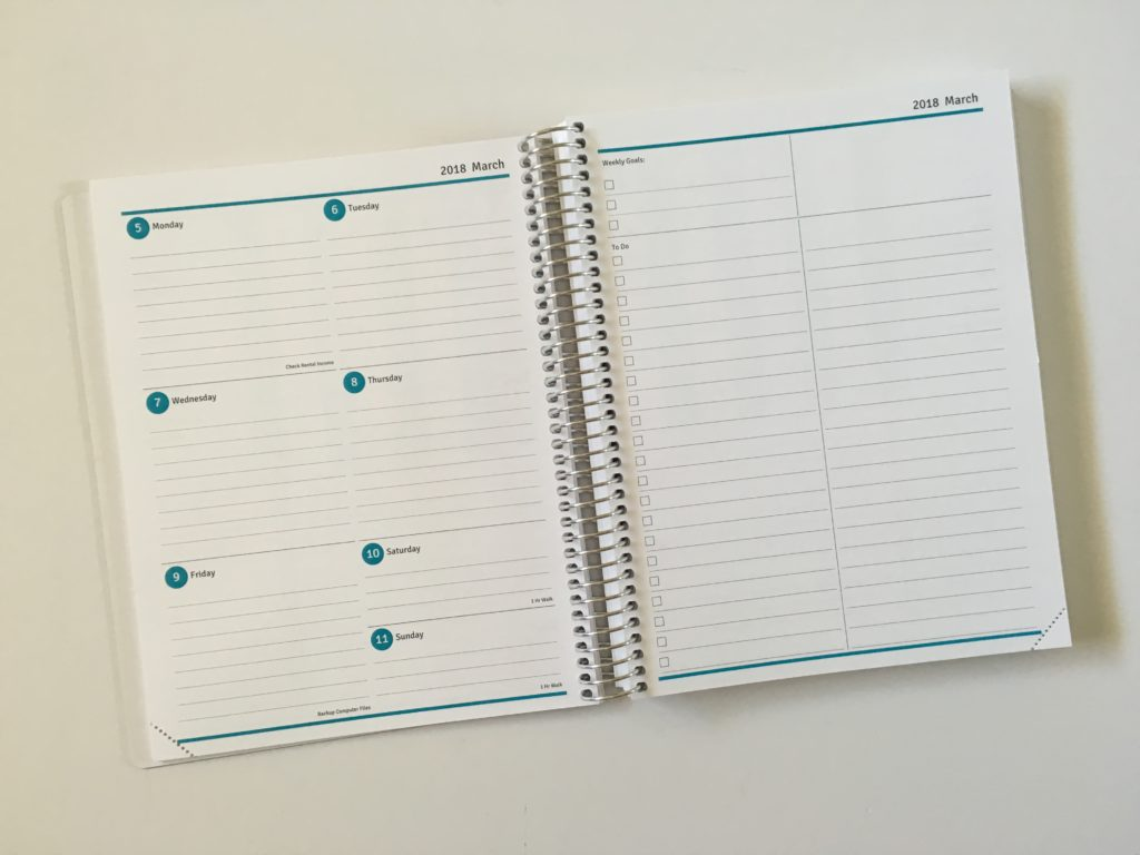 agendio weekly planner review 2 page weekly spread monday start custom personalised colorful lined checklist list making recurring tasks pre printed spiral bound