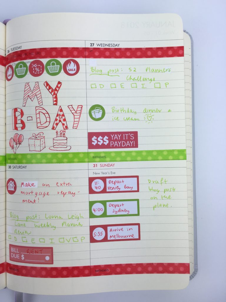 christmas planner decorating ideas red and green thin washi tape doodlebug color coding birthday icon stickers travel bill due kikki k planner horizontal lined review