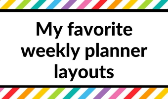 favorite weekly planner 52 planners challenge layout ideas inspiration spread challenge diy erin condren plum paper mi goals