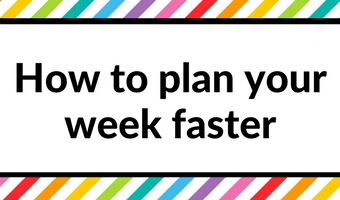 how to plan your week faster methods tips inspiration weekly planning habit tracker color coding time management productivity