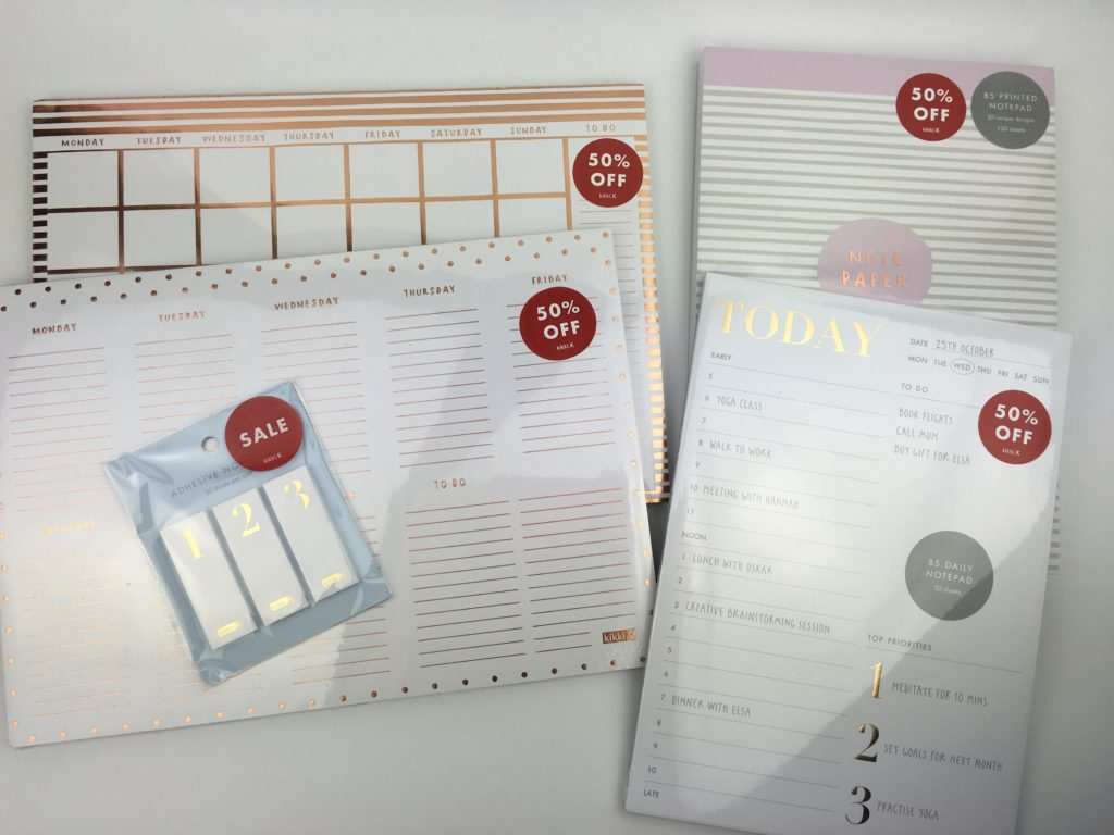 kikki k haul planner sale gold foil daily weekly monthly notepad cute preppy colorful notepad agenda organization australian made