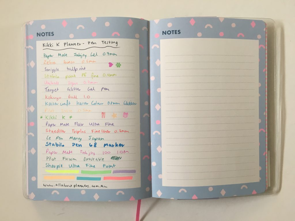 kikki k pen testing bleed through ghosting review pros and cons worth the money bright colorful school organization tips study