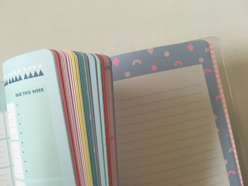 kikki k planner review bright colorful cute organized agenda for school university or college lined notes pages