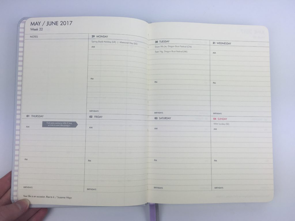 kikki k weekly planner gold foil polka dot bookbound am pm hourly simple minimalist lined cheaper alternative to erin condren aussie planner company week start monday large writing space