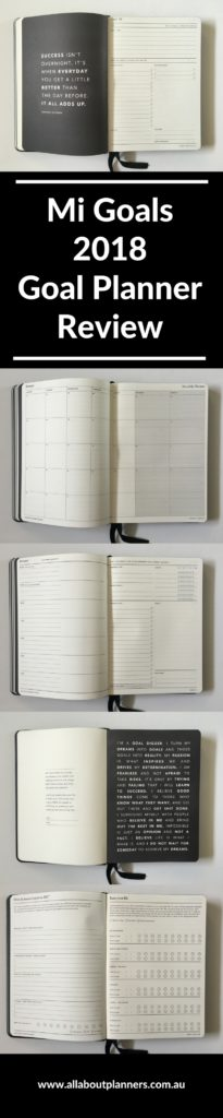 mi goals 2018 goals planner review horizontal weekly spread lined short term long term goals pros and cons monthly review simple