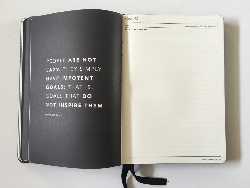 mi goals goal setting planner 2018 review minimalist vision board shrot term long term goals inspiration tips ideas australian made