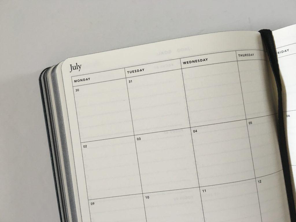 mi goals planner review australian made week start monday minimalist gender neutral monthly calendar pros and cons