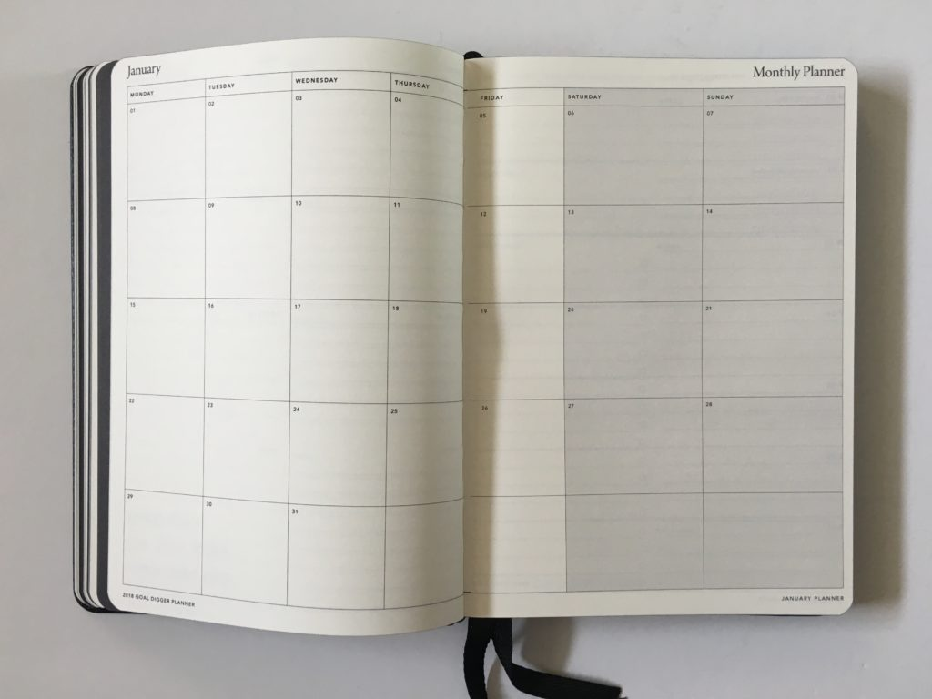mi goals planner review public holidays page australian made gender neutral minimalist simple horizontal weekly planner pros and cons monthly calendar side hustle planner