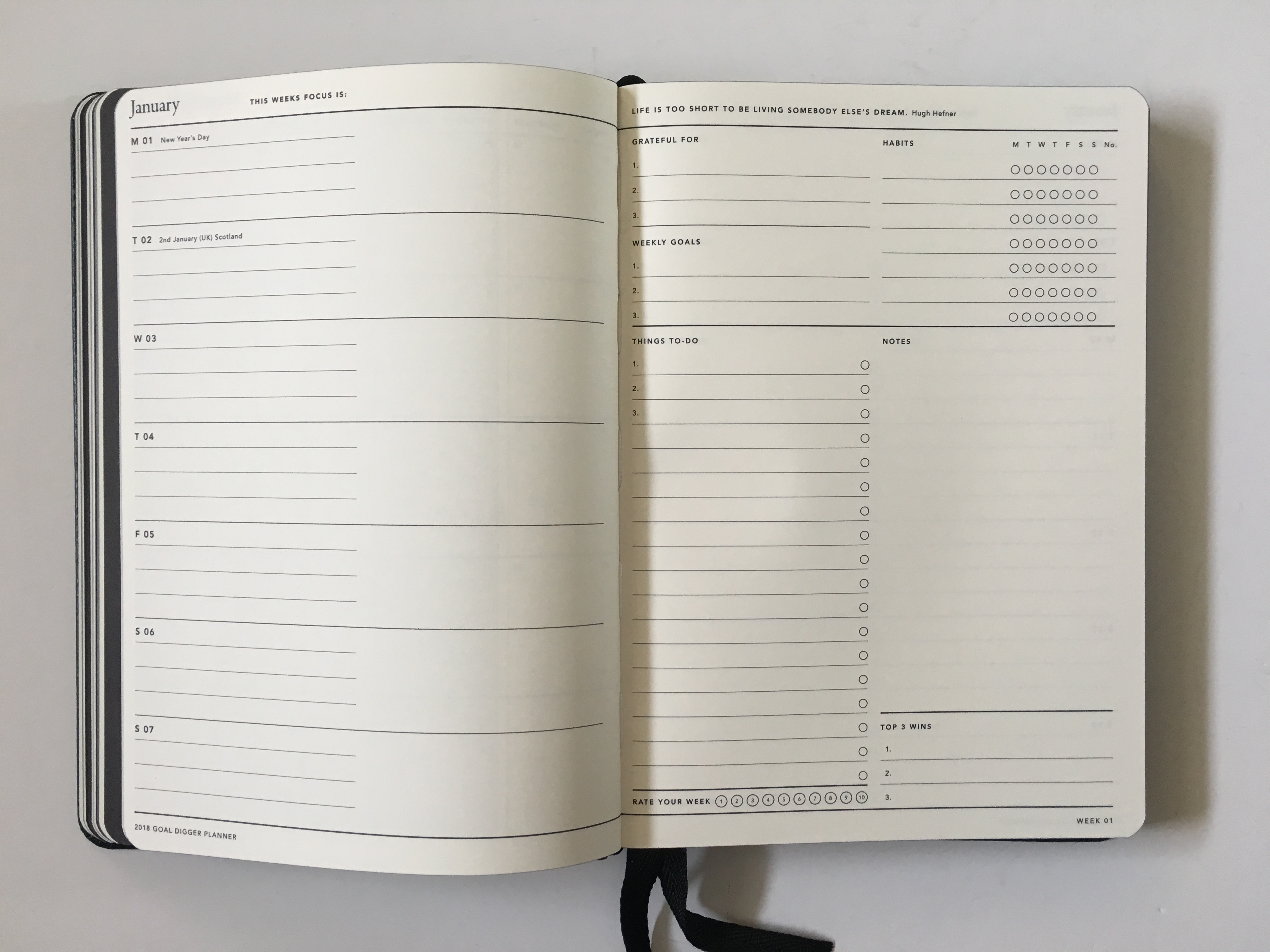mi goals planner review weekly planner habit tracker top 3 horizontal australian made gender neutral minimalist simple planner pros and cons