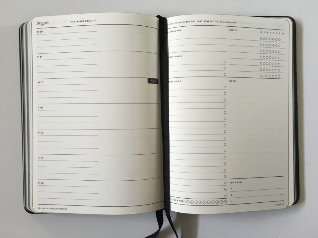 mi goals weekly planner horizontal 2 pages monday start week habit tracker checklist to do list grateful for lined note paper goal setting honest pros and cons