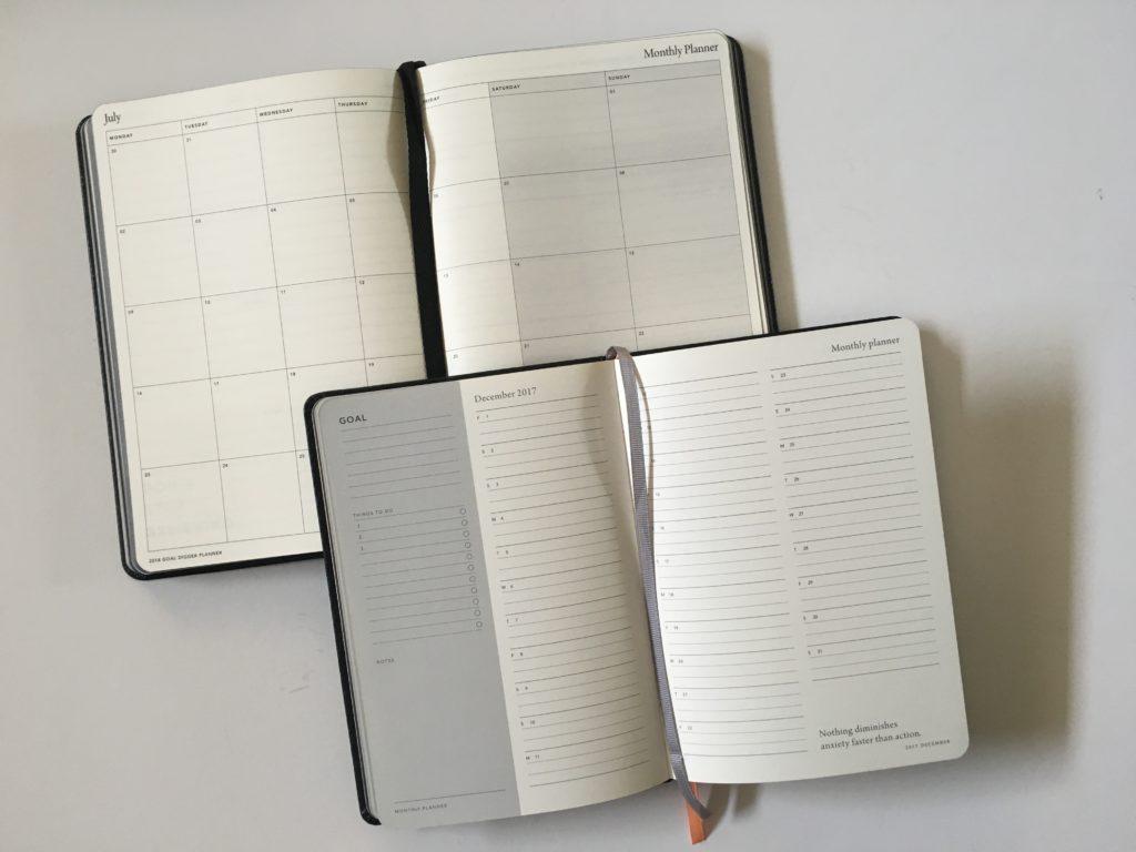 mi goals weekly planner monthly calendar review 2018 australian planner minimalist gender neutral