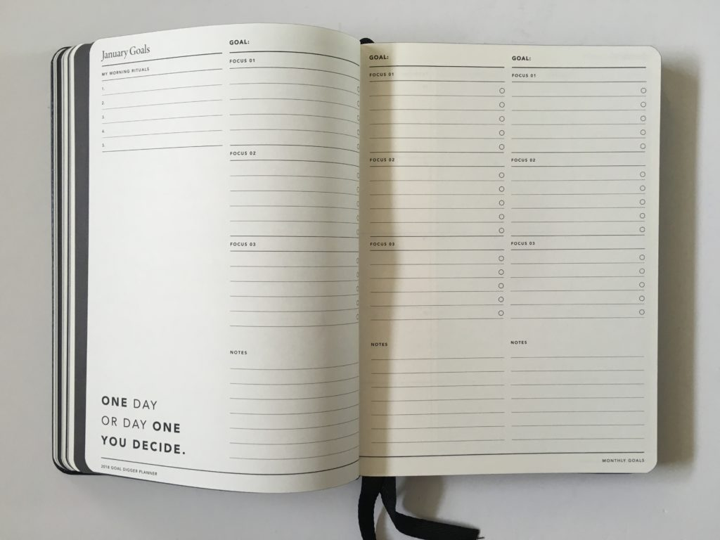 monthly goal setting rule of 3 mi goals review australian made 2018 pros and cons lined horizontal weekly spread