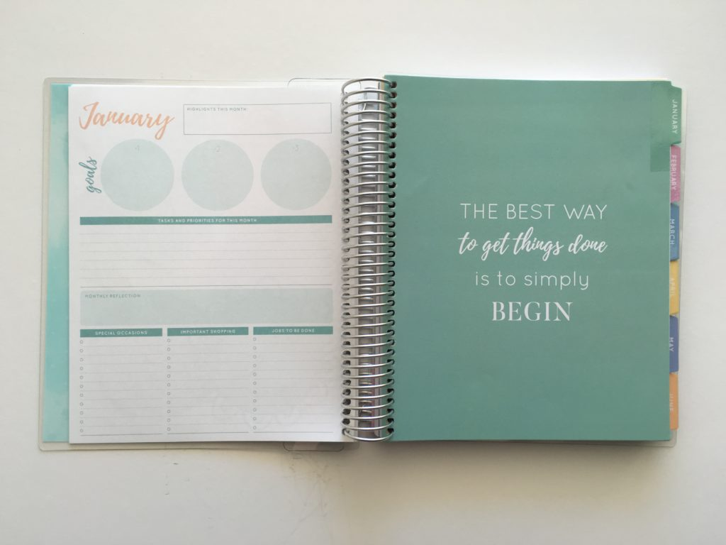 otto monthly planner checklist mint pastel colors officeworks pros and cons flip through video goal setting health wellbeing fitness journal food tracker