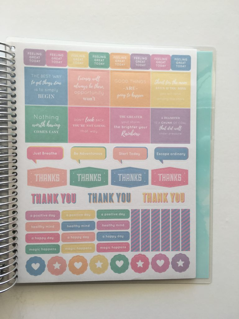 otto wellbeing planner fitness health australian made pastel colorful stickers functional icons quotes monday week start vertical officeworks