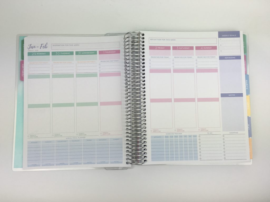 otto wellbeing planner health fitness habit tracker meal planning similar cheap alternatives to erin condren australian made vertical monday week start pastel colors