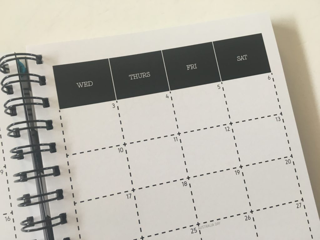 penny paperoni important dates page annual planning monthly organization simple minimalist australian made planner gender neutral horizontal lined 2 page monthly calendar