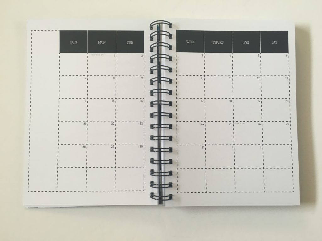 penny paperoni weekly planner 2page monthly calendar sunday start weekly spread monday start minimalist australia made a5 size etsy