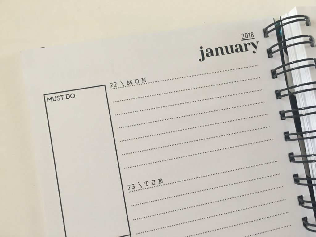 penny paperoni weekly planner monthly goal setting minimalist neutral colors simple a5 size australian made horizontal 2 pages per week lined sidebar