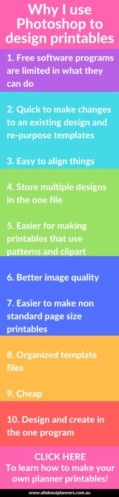 Making printables: 10 Reasons why I use Photoshop instead of