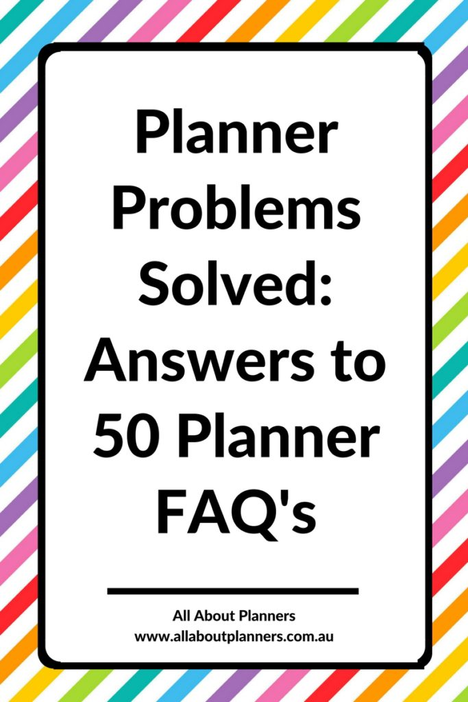 planner problems faq frequently asked questions inspiration ideas how to get the most out of your planner choose recommendations