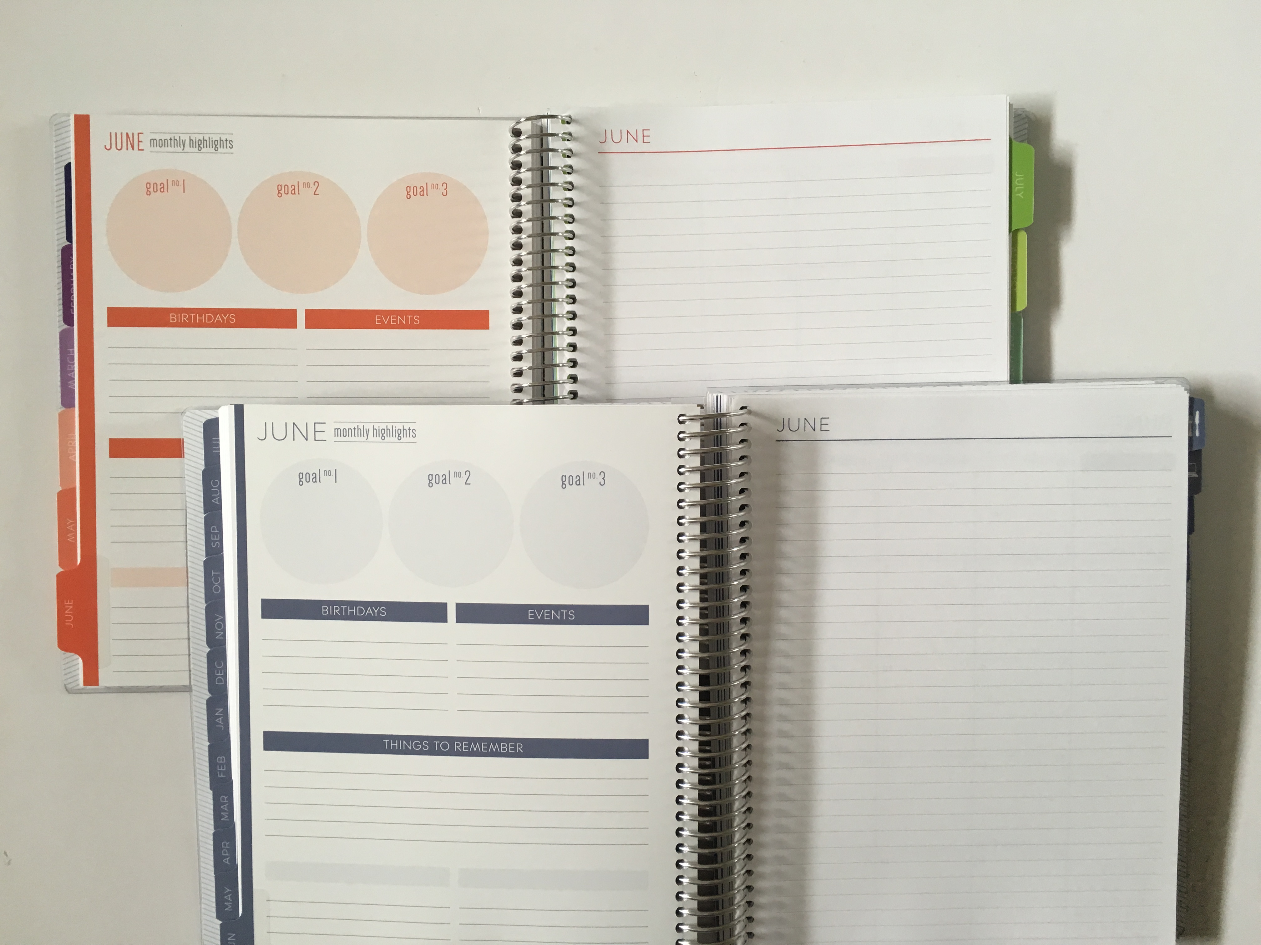 Review of the Plum Paper horizontal lined with notes weekly planner (pros, cons and pen test)