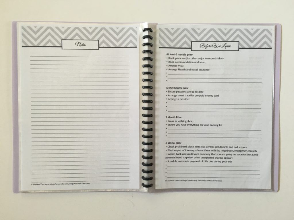printable travel planner organizer to buy before we leave checklist vacation planning destination holidays