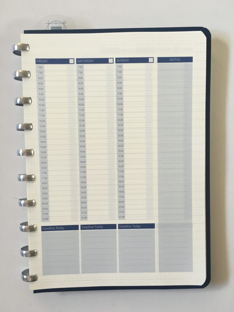 discbound planner the perfect notebook weekly spread on 2 pages starting monday hourly undated lined goal setting productivity