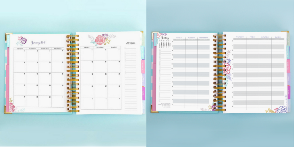 Brilliant life Planner, 2 page weekly planner, alternative erin condren planner hourly vertical monday start week minimalist